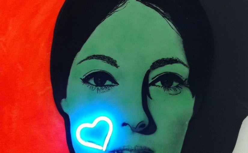 Il quadro di Raysse, parole mie e quel bacio Nissa Bella, quelbacio